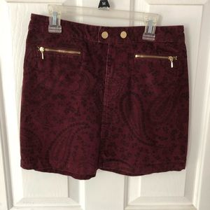 A & F corduroy skirt